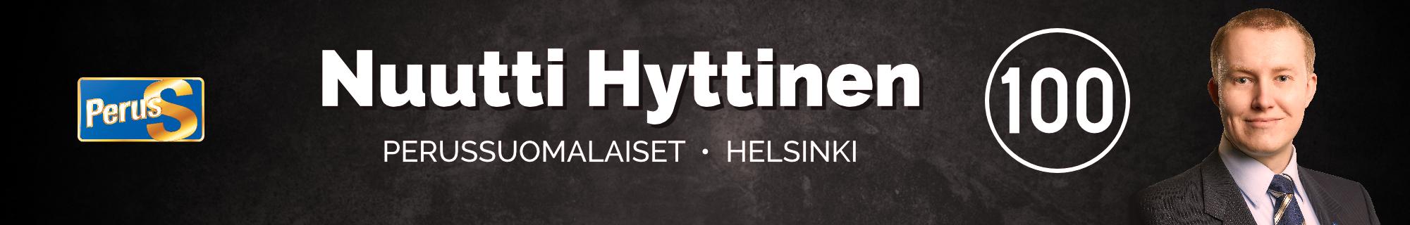 Nuutti Hyttinen | Perussuomalaiset | Helsinki